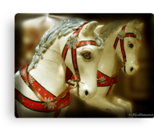 On the old Carousel Canvas Print