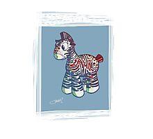 psychedelic zebra Photographic Print