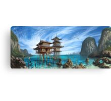 Tropical Temple Canvas Print