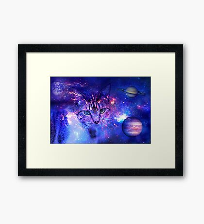 Space Kitty Framed Print