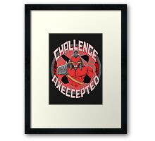 Challenge Axeccepted Framed Print