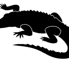 Alligator Silhouette by kwg2200