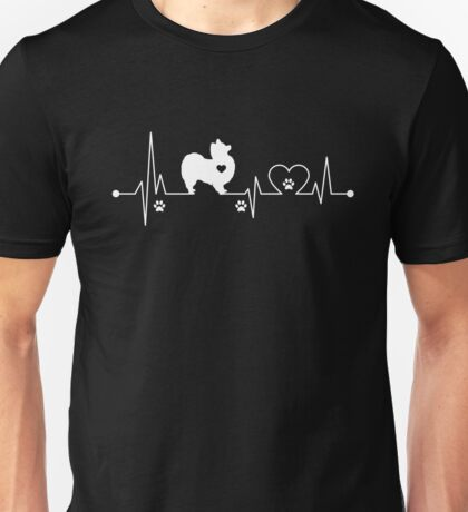 Heartbeat Dog Papillion Unisex T-Shirt