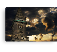 Customs House Clock Tower Canvas Print