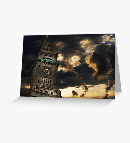 Customs House Clock Tower Greeting Card