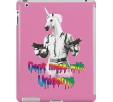 Don't mess with unicorns iPad Case/Skin