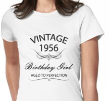 Vintage 1956 Birthday Girl Aged To Perfection Womens Fitted T-Shirt