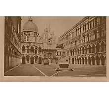 The court-yard of Doges' Palace,Venice,Italy Photographic Print
