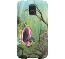 Large Mouth Bass and Clueless Bait Fish Samsung Galaxy Case/Skin