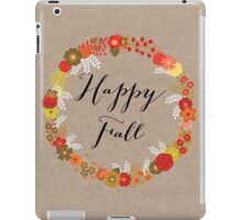 Happy Fall iPad Case/Skin