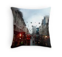 Cold London Morning Throw Pillow
