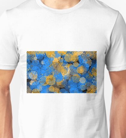 Circle Rings Abstract Optics Graphic Color Blue Unisex T-Shirt
