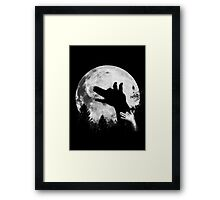 Bark At The Moon! Framed Print