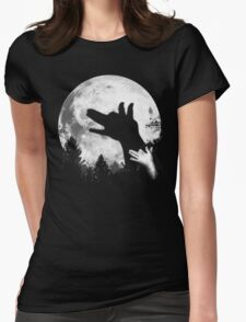 Bark At The Moon! Womens Fitted T-Shirt