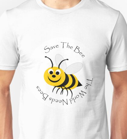 Save The Bee Design Unisex T-Shirt