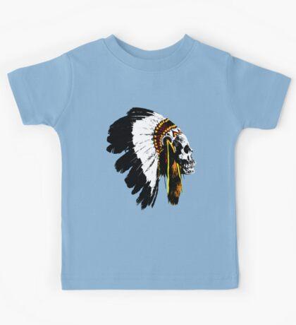 Indian chief skull Kids Tee