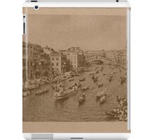 Regate on the Grand Canal,Venice,Italy iPad Case/Skin