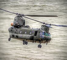 Chinook as Seen From Beachy Head -  HDR - Airbourne 2014 by Colin  Williams Photography