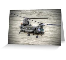 Chinook as Seen From Beachy Head -  HDR - Airbourne 2014 Greeting Card