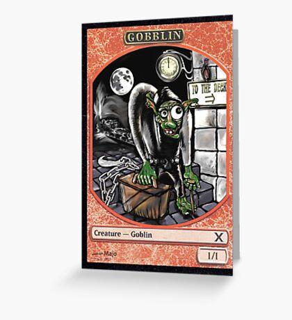 Magic Cards Goblin Igor Young Frankenstein Junior Token Greeting Card