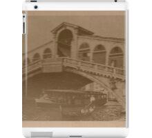 Rialto Bridge Vintage iPad Case/Skin