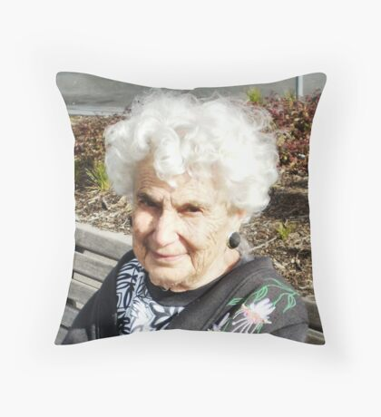 Patricia Hewitt-Flower at 90 years 2011 Throw Pillow