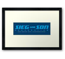 SIEG AND SON CORPORATION Framed Print