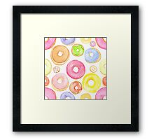 Water Colored Donuts Framed Print