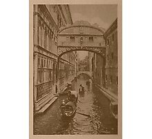 The sighs Bridge,Venice,Italy Photographic Print