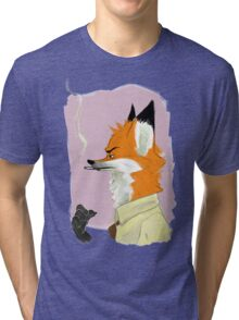 Smoking Fox Tri-blend T-Shirt