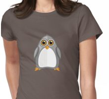 Grey Penguin Womens Fitted T-Shirt