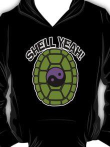 Shell Yeah Purple Sticker T-Shirt