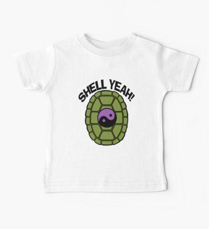 Shell Yeah Purple Sticker Baby Tee
