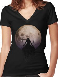 SANTORYU (3 Swords Style) Women's Fitted V-Neck T-Shirt
