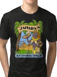 Zahara's Old Kingdom Grille Restaurant Parody  Tri-blend T-Shirt