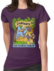 Zahara's Old Kingdom Grille Restaurant Parody  Womens Fitted T-Shirt