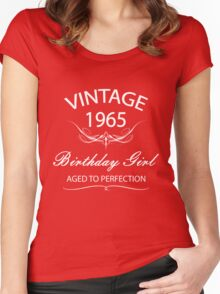 Vintage 1965 Birthday Girl Aged To Perfection Women's Fitted Scoop T-Shirt