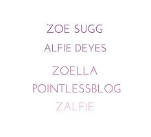 Zoella and Pointless Blog Merch by BrokenLights