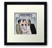 Mytheory - We are Family Framed Print