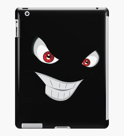 Evil face with red eyes iPad Case/Skin