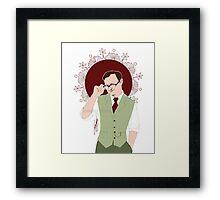 Mycroft Holmes - Office Glasses Framed Print