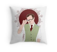 Mycroft Holmes - Office Glasses Throw Pillow