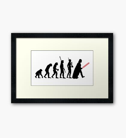Darth Vader Evolution Framed Print
