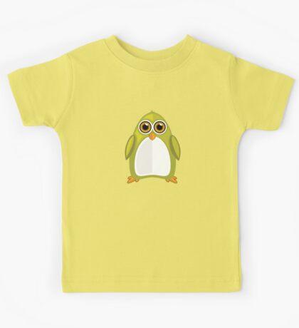 Yellow Green Penguin Kids Tee