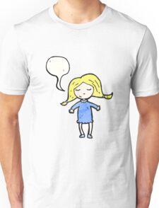 cartoon happy blond girl Unisex T-Shirt