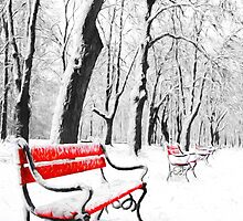 Red Benches by solnoirstudios