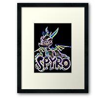 Spyro The Dragon Glow Design Framed Print
