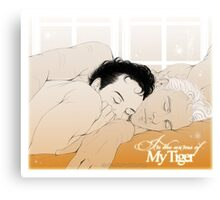 MorMor - In the Arms of my Tiger Canvas Print