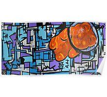 Astronaut Gummy Bear Poster