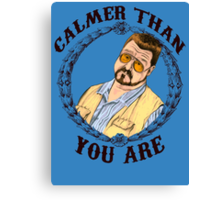Calmer Than You Are. Canvas Print